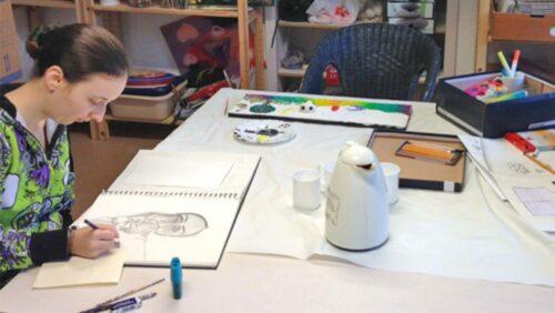 Kreativraum für psychisch kranke junge Frauen