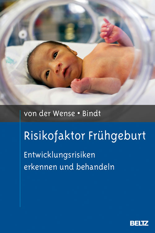 BuchCover Risiko Frühgeburt zeigt Frühchen im Inkubator