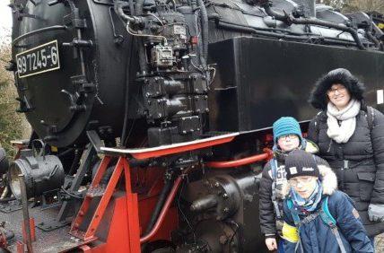 Mobiler Dienst Sehen - Kinder besuchen die Ziegenalm im Harz