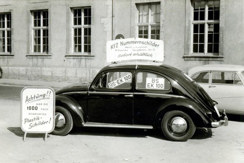 Die Stiftung historisch - der erste Firmenwagen
