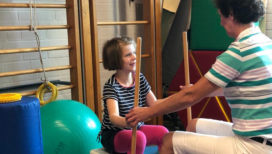 Therapie an der Montessori-Schule in Osnabrück.