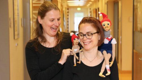 Puppenspielvisite in der Bremer Kinderklinik