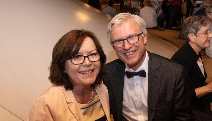 Herr und Frau Keppler beim Stiftungsjubiläum in der Elbphilharmonie