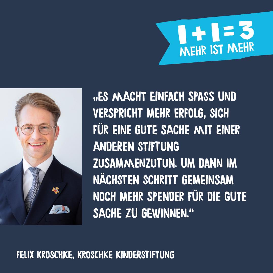 Felix Kroschke zur Spendenaktion